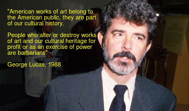 American works of art belong to the American public; they are part of our cultural history. People who alter or destroy works of art and our cultural heritage for profit or as an exercise of power are barbarians
